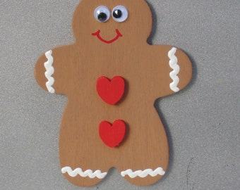 SALE - Gingerbread Man Magnet