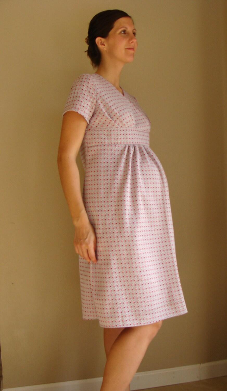 Retro 70s style Maternity Dress size 6/8 Ready Made