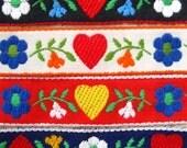 embroidered trim - floral swiss austrian jacqurd - 1 yard