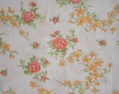 vintage fabric - cute small roses - shabby chic