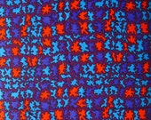 vintage fabric - bright blobs - synthetic