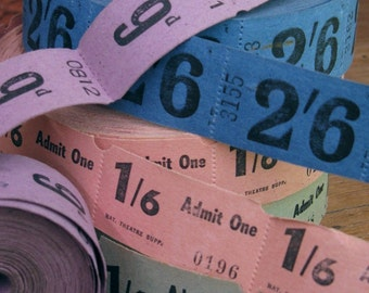 vintage tickets - theatre tickets