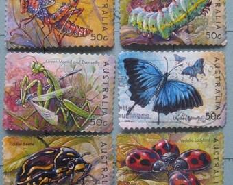 Australian Insects - postage stamp ephemera