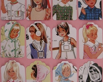 children of the 70s - set A - gift tags - 12 - large  -REPRO