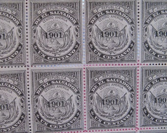 vintage ephemera - central america revenue stamps
