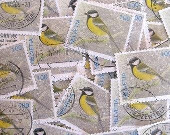 bird postage - Swiss bird stamp - contemporary - postage stamp ephemera - 10