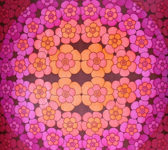 items similar to vintage wallpaper circles of flowers
