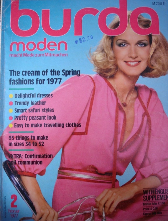 1977 Burda moden vintage - vintage Burda magazine - vintage patterns