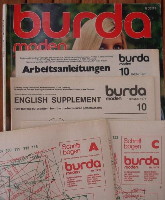 SALE - 1977 - Burda moden vintage - vintage Burda magazine - vintage patterns