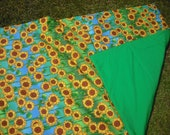Happy Sunflower Pillow Quilt or Quillow