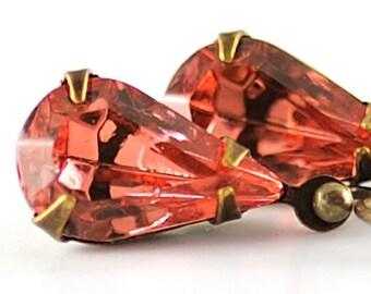 Peach Earrings Dangle Earrings Jewel Earrings Pastel Jewelry Gift for Easter Earrings, Romantic Earrings, Sweden