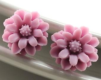 Flower Earrings Stud Earrings Post Earrings Pale Lilac Earrings Petite Flower Stud Earrings Romantic Earrings Floral Jewellery, Argentina