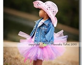 Glamour Girl Tutu fits most 3 yr olds READY2SHIP 19 waist 11 length 3rd Birthday Photo Prop pinks and purples