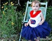 Tutu Nautical Princess Tutu Navy Blue Custom Made Newborn Baby 1 2 3 4 Years