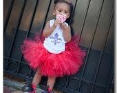 Red Hot Frills Birthday Tutu Custom Newborn Baby 1 2 3 4 Years 1st Birthday