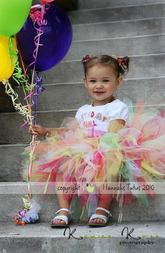 Tutu CUSTOM The Original Birthday Bash Tutu made to order in sizes 1 2 3 4 Years great for Birthday Tutu Photo Prop