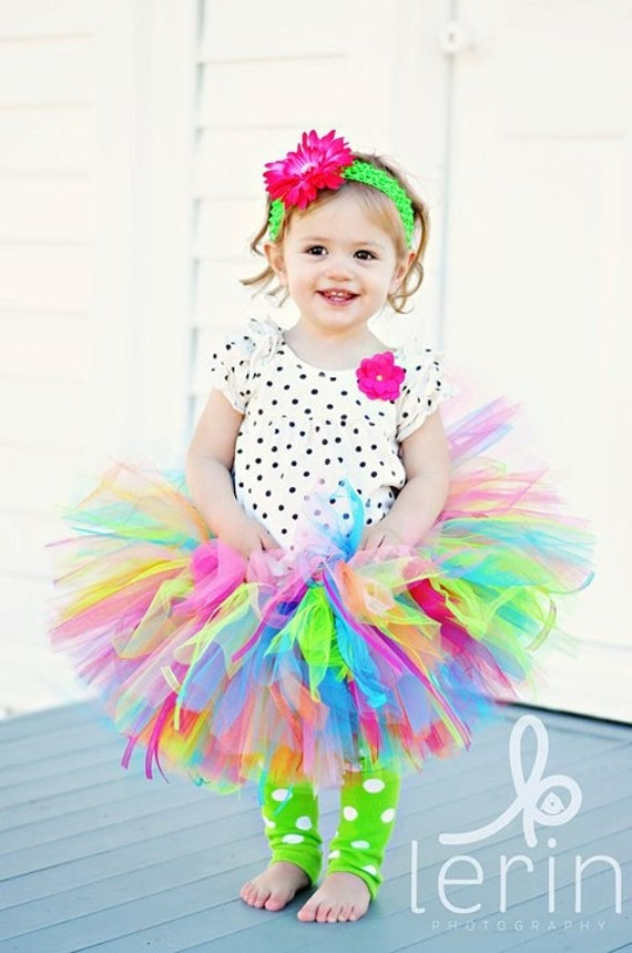 Tutu Dottie's Springtime Splash Birthday Tutu made to order 1 2 3 4 Years Birthday Girl Tutu