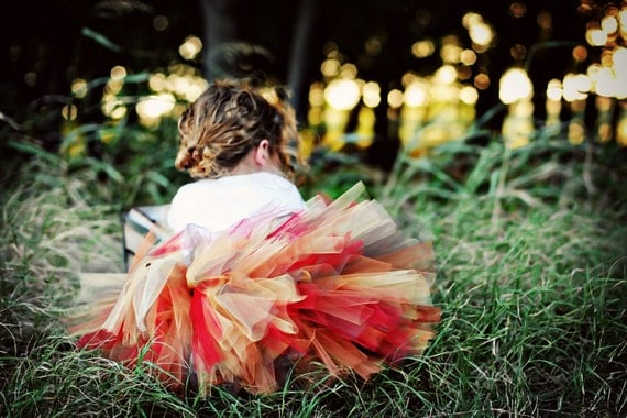 SALE Autumn Gold Birthday Tutu 1st 2nd Birthday READY2SHIP 17 waist 8 length red gold brown copper tutu