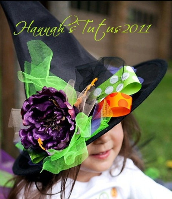 READY2SHIP Halloween Wickedly Sweet Witch HAT ONLY - 1 2 3 4 yr olds Halloween Costume