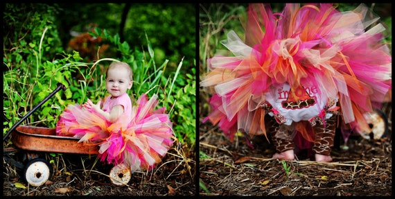 READY2SHIP Sassy Giraffe Tutu Only - 18 waist 8 length fits most 1 to 2 yr olds 1st Birthday (bloomers sold seperate)