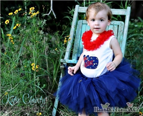 Tutu Nautical Princess Tutu READY2SHIP 17 waist 9 length fits most 1 to 2 yr olds Navy Blue Birthday Tutu