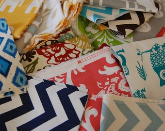 Fabric Swatches Scraps Premier Prints Fabric Home Decor Fabric FLAT RATE ENVELOPE Chevron Fabric Swatches Samples