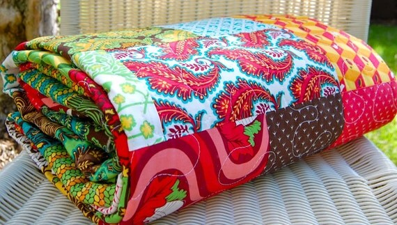 Patchwork Lap Quilt in Nest by Tula Pink for Moda
