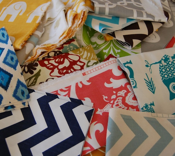Fabric Swatches - Fabric Scrap Box - Premier Prints Fabric - Home Decor Fabric Scrap Box - Fabric Destash - Clearance Fabric
