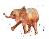 BABY ELEPHANT Print, 5x7 print, SMALL Animal Prints