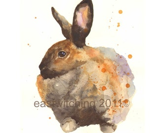 Watercolor RABBIT print