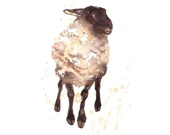 SHEEP Print, Silly Ewe, sheep painting, for the fiber addict, farm animals, farmyard