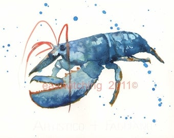 LOBSTER Print, watercolour lobster, lobster paintings