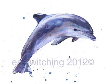 DOLPHIN Watercolor Print