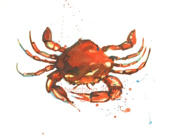 CRAB Print, 8x10 inches, cancer zodiac gift