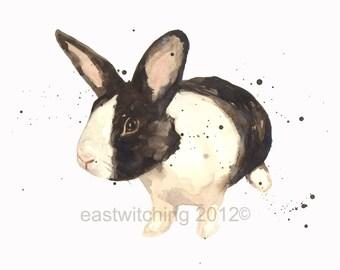 Custom Portrait of your bunny, rabbit painting, rabbit portrait, bunny portrait, watercolor bunny, pet portrait