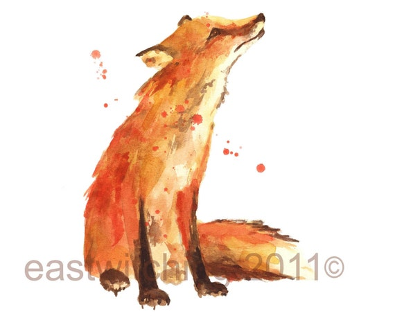 Fox Print, fox,  Aspiring Dr Doolittle Gift, animal print, nursery decor