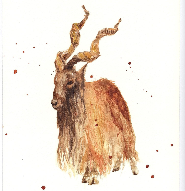Like this item Capricorn Goat Art