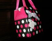 White and Pink Dot Gift Bag