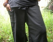 Grey CottoN THAI Fisherman Wrap Pants PERFECT for All Size ......3/4 Length