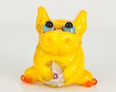 Yellow Dragon Lampwork Glass Bead
