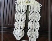 PATTERN in PDF Crocheted Scarf -- Pineapple