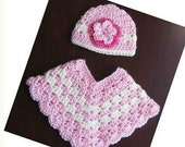 PATTERN Crocheted baby toddler Poncho -- 12 - 24 months and 2T - 4T
