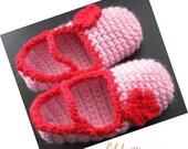 Pattern in PDF -- Crochet baby toddler slippers/house socks in kids size of 9 - 12