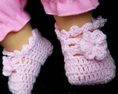 baby booties PATTERN Crocheted baby maryjane booties baby shoes