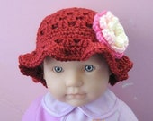 PATTERN in PDF crocheted Cloche hat for a baby toddler (Cloche 16) -- 6 to 9 months and 9 to 12 months