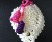 PATTERN in PDF crocheted soap saver bag or gift bag, pouch, sachet, purse, snack bag -- Pineapple