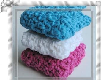 Pattern crochet thick and dense dishcloth/washcloth/ragcloth -- Free shipping