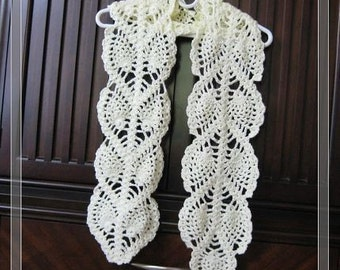 Crochet Scarf Pattern Leaf : Items similar to PATTERN in PDF -- Crocheted Scarf Leaves ...