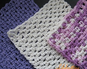 Pattern in PDF -- Crocheted dishcloth/washcloth/ragcloth Rag Cloth loop dishcloth -- Dishcloth 48