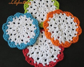 dish cloth pattern Crocheted dishcloth washcloth rag cloth coaster Round dishcloth Facial cloth -- Dishcloth 49